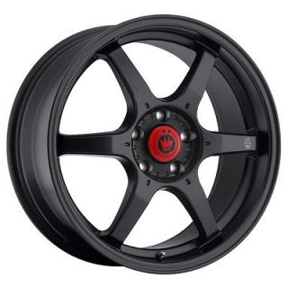 NEW KONIG BACKBONE 15X6.5 4X100 ET38 MATTE BLACK RIM WHEELS
