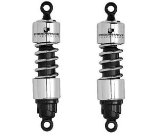 Progressive 412 Series Shocks 13 CHROME 1977 78 Harley Davidson XLCR