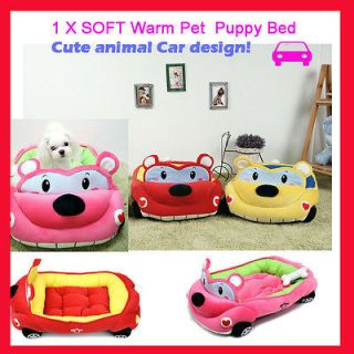 1X Soft Warm Dog Bed House Car Design Pet Puppy Cat Nest Mat Pad Very