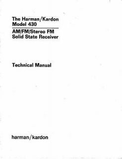 harman kardon 430 technical service manual  9 47