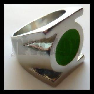 dc comics green lantern movie silver power ring size 9