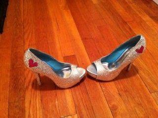 SWAROVSKI CRYSTAL Element Shoes Peep Toe High Heel Pump Wedding Shoes