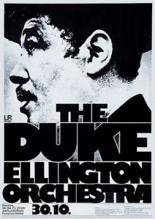 Duke Ellington Orchestra POSTER 1973 Rare Large Jazz Big Band