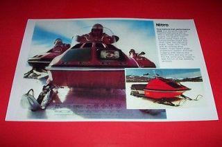 76 RUPP NITRO SNOWMOBILE POSTER Nitro vintage sno machine
