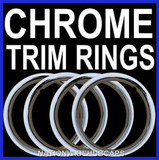 SETOF4 17 New Chrome Wheel Trim Rings Beauty Glamour Ring Rim Bands