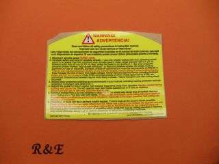 GUARD WARNING / INSTRUCTION STICKER DECAL TS 350 360 400 460 510 760