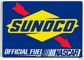 sunoco official fuel of nascar racing decals stickers time