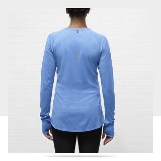 Nike Dri FIT Wool Crew Womens Running Shirt 484376_412_B