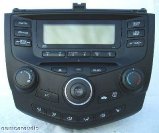 03 04 05 06 07 Honda Accord Radio Stereo CD Player 2AA1 Climate Temp