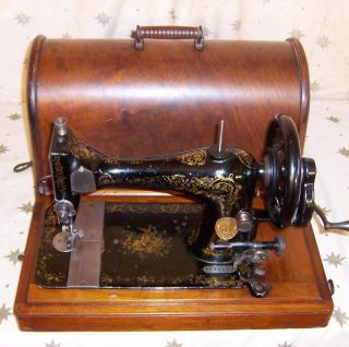 1889 Singer VS3 model 28 Hand Crank Sewing Machine Large Rose