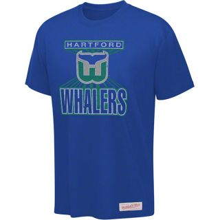 Hartford Whalers Blue Mitchell Ness Home Advantage T Shirt
