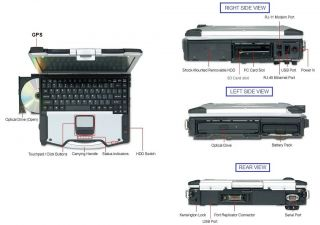 GPS * BLACKHAWK Panasonic TOUGHBOOK CF 29 laptop TOUCHSCREEN NAVY SEAL