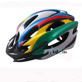 New 2012 Cycling Bicycle Adult Mens Bike Rainbow Merida Helmet