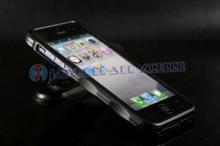 Black Metal Aluminum Frame Bumper Hard Case Cover Skin for Apple
