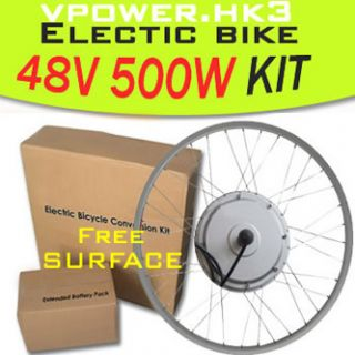 48V 500W 26 Front Wheel Electric Bicycle Motor Kit E Bike Cycling