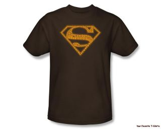 Licensed DC Superman 60s Type Shield Adult Shirt s 3XL