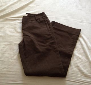 Ann Taylor Loft Petites Womens Dress Pants Sz 2P Marisa Fit Brown