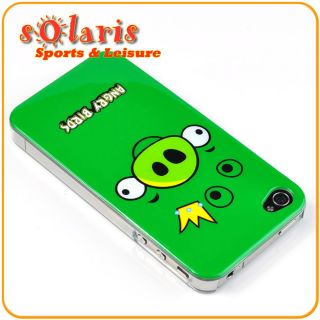 Angry Bird Green King Pig Hi Gloss Clear Edge Snap on Hard Case for