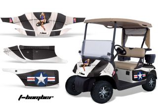 GRAPHIC KIT STICKER DECAL EZGO GAS GOLF CART ACCESSORIES PARTS BOMBER