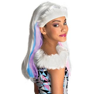 New Girls Monster High Abbey Bominable Halloween Costume Accessory Wig