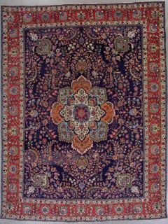 Antique Persian Tabriz Hand Knotted Wool Area Rug with Abrash