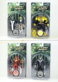 DC Comics Blackest Night Series 7 Action Figure Set of 4 Black Lantern