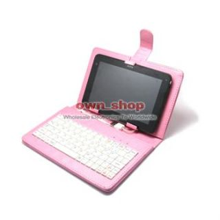 Leather Case Stand USB Keyboard for 7 7 inch Tablet PC Mid
