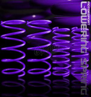 00 01 02 03 04 05 Ford Focus lowering Spring Kit Purple Front Rear Set