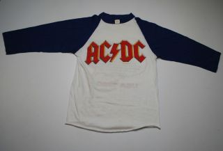 Vintage ACDC USA 80 Back in Black Tour T Shirt 1980 1980s s Original