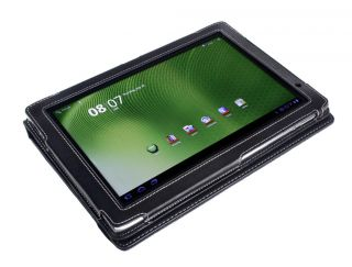 Acer Iconia Tab A500 A501 10 1 Tablet Black Faux PU Leather Cover Case