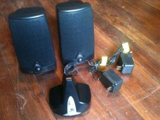 Acoustic Research AW871 Wireless Stereo Speakers, In Excellent
