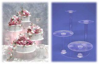 Crystal Splendor Multi Tiered Acrylic Wedding Cake Stand