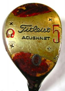 womens juniors vintage titleist acushnet 5 wood rh