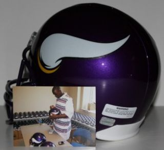 Adrian Peterson Signed Vikings FS Helmet w/ROY 07 (AD28 Hologram)