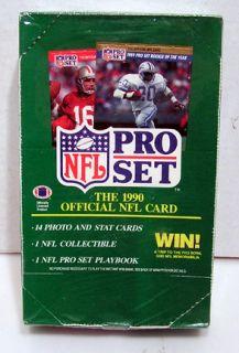 1990 pro set nfl football factory sealed card box