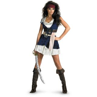 Pirates of The Caribbean Jack Sparrow Sassy Adult Costume Pirate