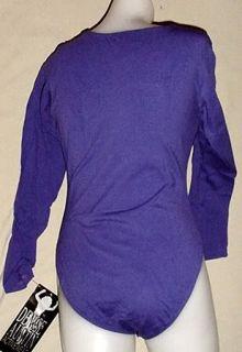 Denise Austin Long Sleeve Leotard Purple L