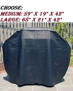 Mr Bar B Q Gas Grill BBQ Cover Extra Heavy Flannel Lining Medium Large