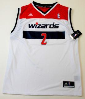 NBA Adidas Washington Wizards John Wall Youth 2012 Home Rev 30 White