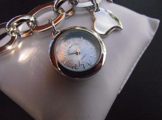 Reloj Azul Pulsera Para Mujeres Eve Mon Crois Quartz Analogico Corazon