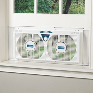 Window Fan w Thermostat Lasko 2138 Portable Electric Air Cooler AC