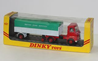 Dinky Toys 914 AEC British Road Services Articulated Truck Yellow Celo