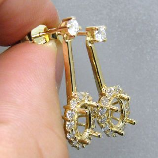 Oval 5x8mm Solid 14kt Yellow Gold Diamond Mount Setting Wedding