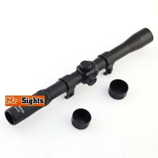 F7 4x20 Entry Level Air Rifle Gun Scope Telescopic Sight with Mounts