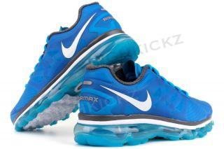 Nike Air Max 2012 487679 410 New Women Blue Glow White Running