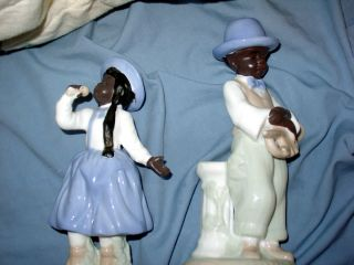 ART MUSICAL FIGURINES JAZZ SALOON COLLECTIBLES AFRICAN AMERICAN BLACK
