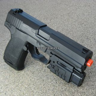 New Airsoft Hand Gun Pistol Air Soft Toy Laser Light w BBs