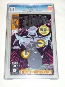 Silver Surfer #50 1st printing Embossed Silver Foil Cover CGC 9.6