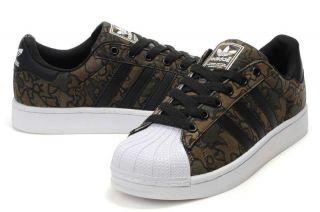Adidas Originals Mens Superstar II Camo Brown Black G45903 RARE All