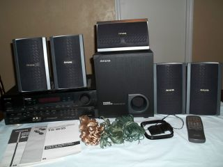 AIWA Home Theater Stereo System with 5 Speakers & Subwoofer ~ Surround
